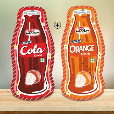 COLA ORANGE FIZZUP CANDY DESIGNER POUCH